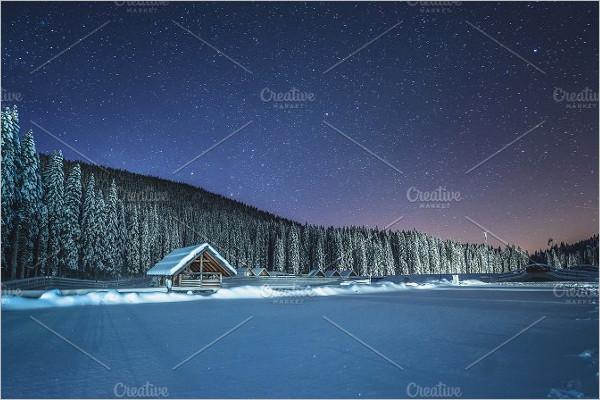 Blue PSD Winter Background