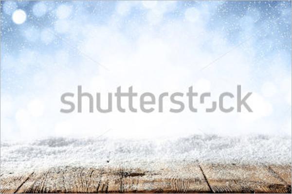 Blurred Background Snow Design