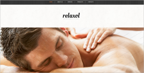 Body Relaxation Salon Website Template