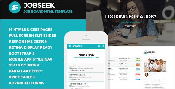 Bootstrap Job Portal Template