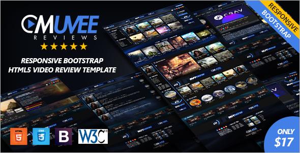 Bootstrap Video Website Template