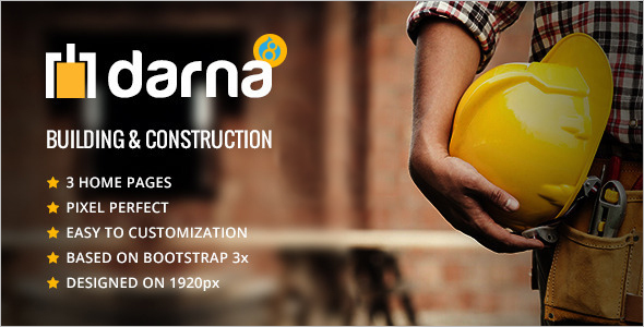 Building and Construction Drupal 8 Theme