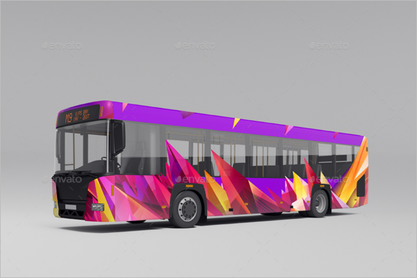 Bus Advertising Mockup Template