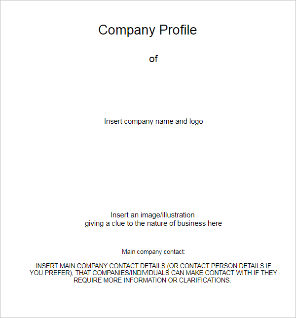 Business Company Profile Template  Company Business Profile