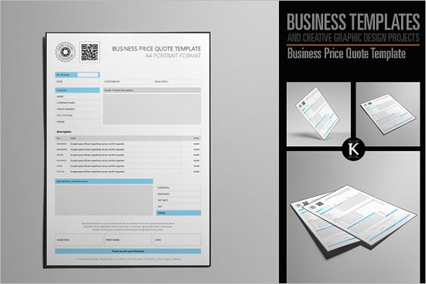 business price quote template