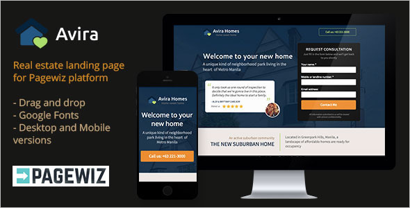 Business Real Estate Pagewiz Template