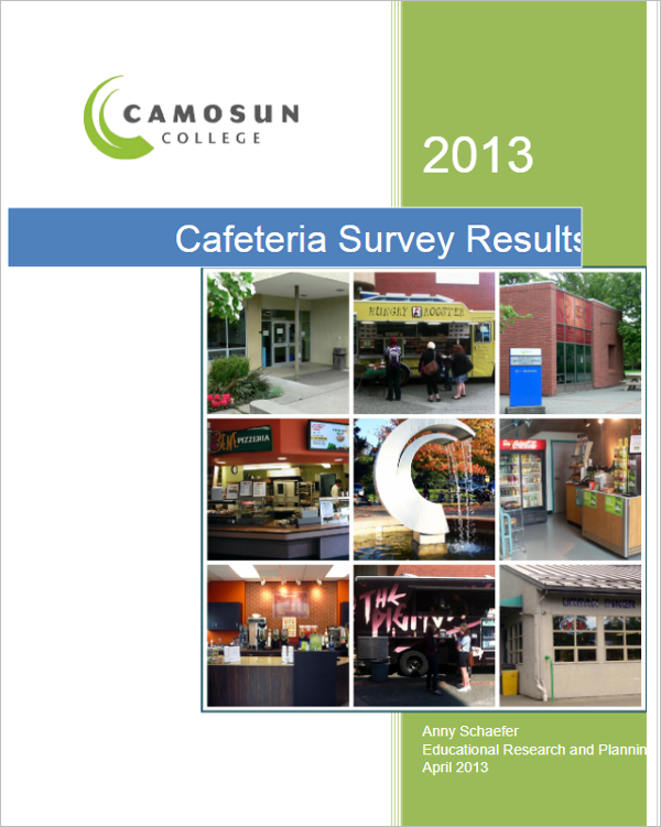 Cafeteria Survey Results Template