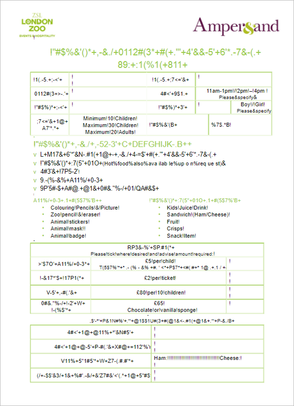 Cake Booking Invoice Template