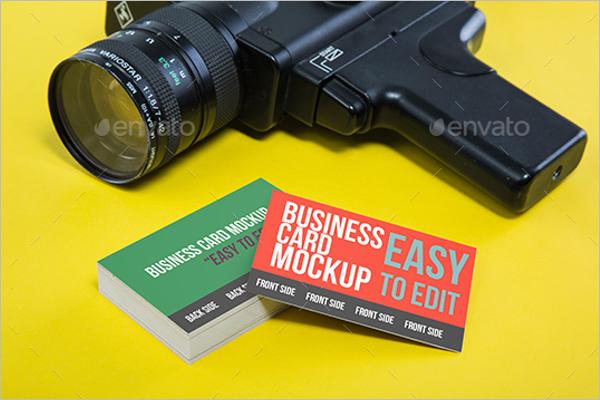 Camera ManBusiness Card Mockup Design