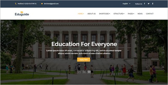 Campus HTML Template