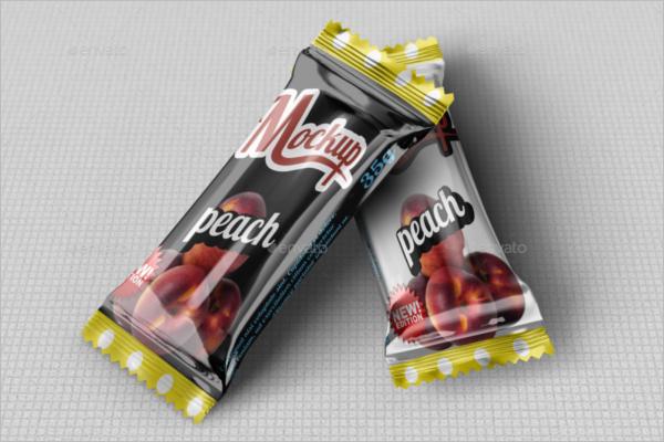 Candy Chocolate Bar Mockup