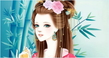 Cartoon Girl Character