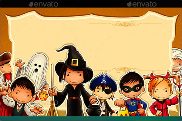 Cartoon Kids Halloween Design