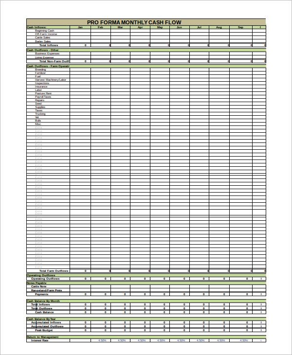 Cash Flow Statement Template Download