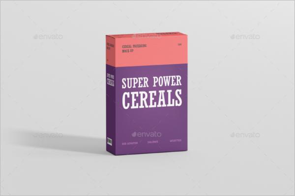 Cereals Breakfast Mockup Template