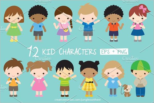 Children Cartoon Character Design