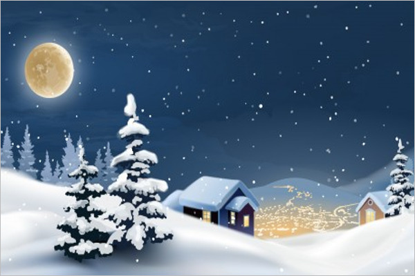 Christmas Tree Winter Background