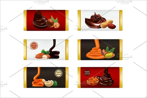Chocolate Bar Isolated Template