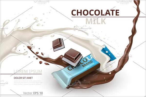 Chocolate Bar Milk Mockup Design