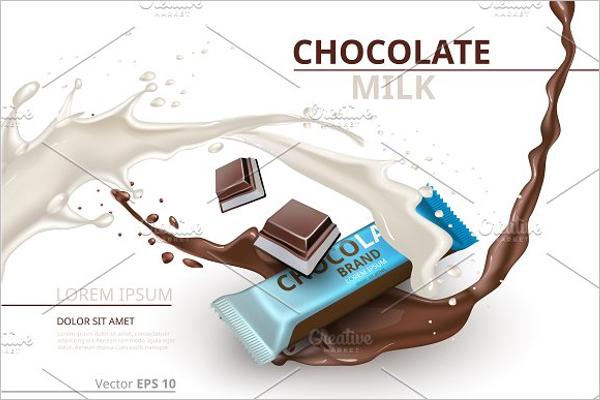 Chocolate Bar Milk Mockup Design