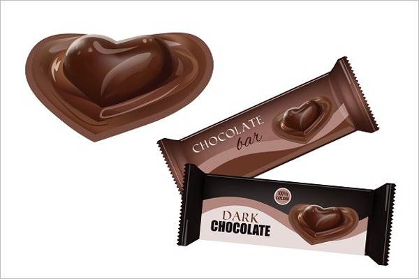 Chocolate Bar with Heart Design