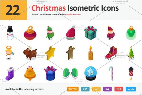 Christmas Isometric Background
