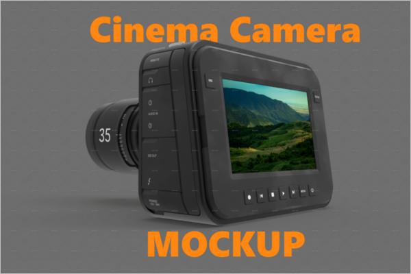 Cinema Camera Mockup