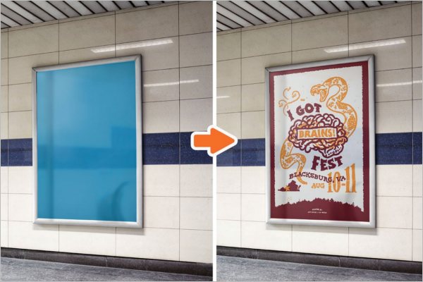City Advertising Mockup Design
