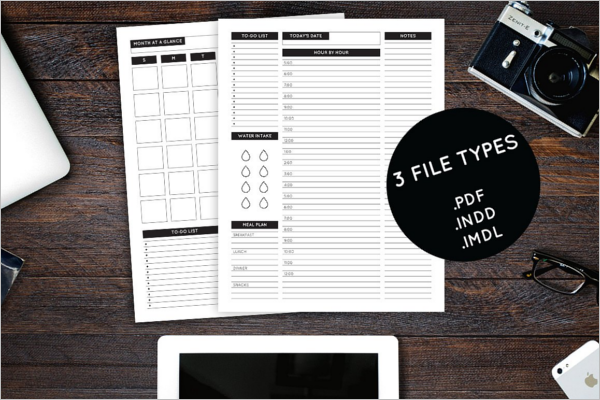 Classic Daily Planner Template