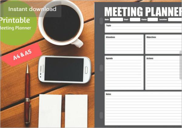 Classic Meeting Agenda Template