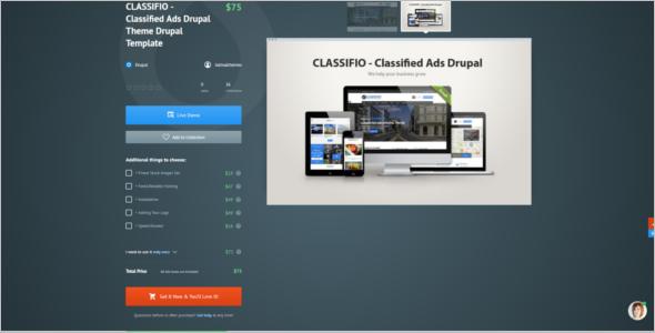 Classified Ads Drupal Theme