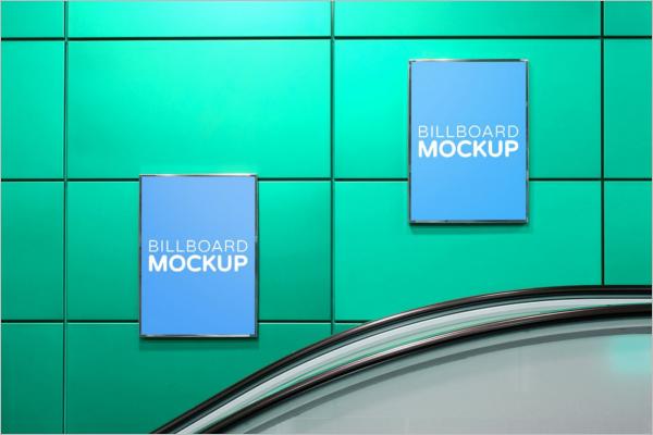 Clean Advertisement Mockup Template