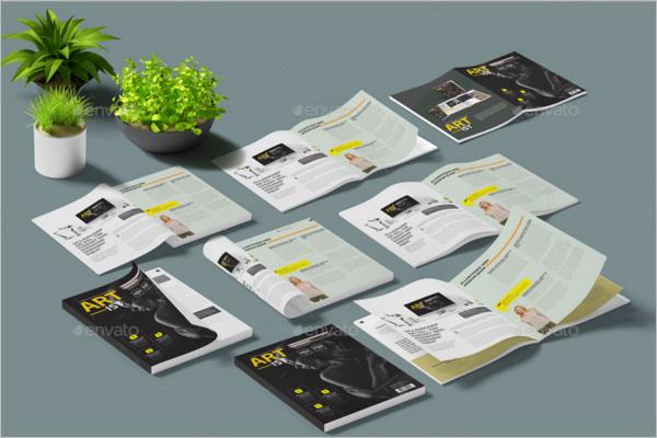 CleanMagazine Mockup Template