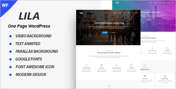 Clean One Page Parallax HTML Template