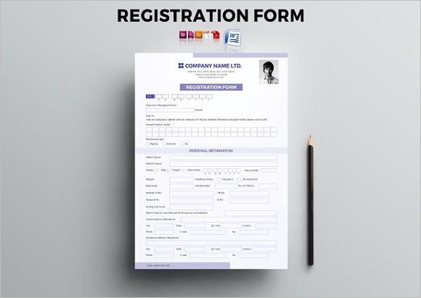 Clean Registration Form Template