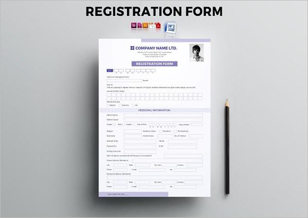 Clean Registration Form Template