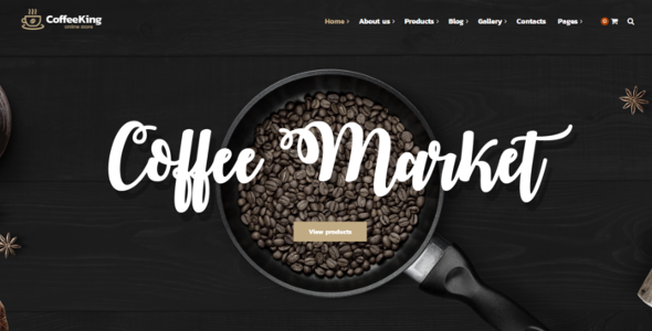 Coffee House Website Theme