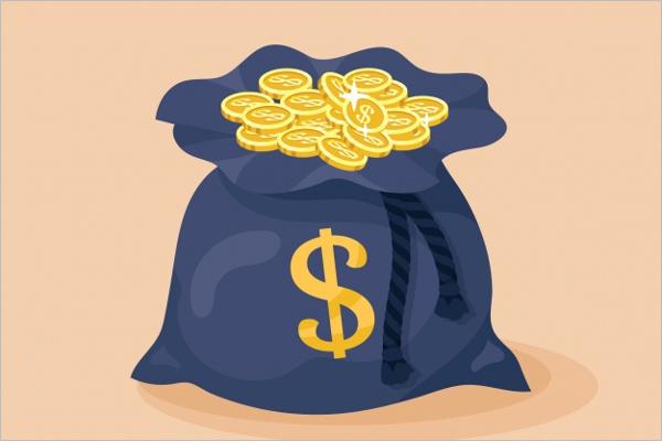Coins Bag Background Design