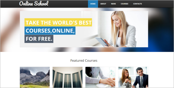 College Website HTML Template