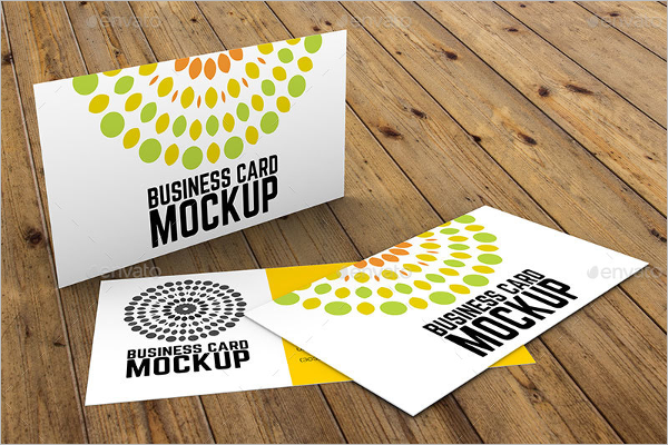 Colorful Business Card Mockup Template
