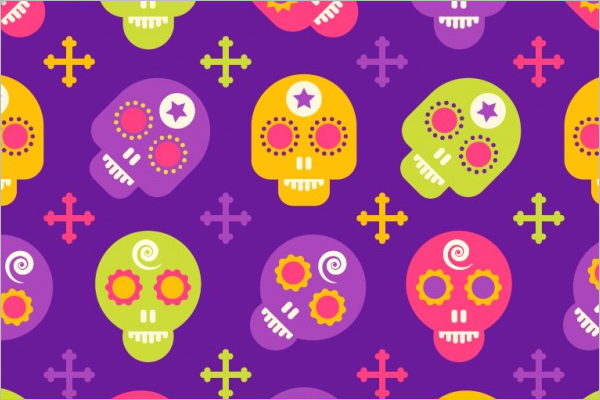 Colorful Skull Seamless Pattern