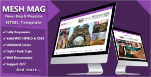 Colorful Magazine HTML Template