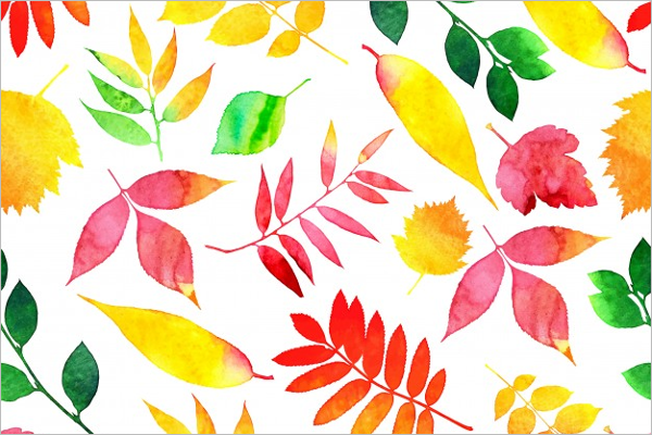 Colorful Leaves Seamless Design
