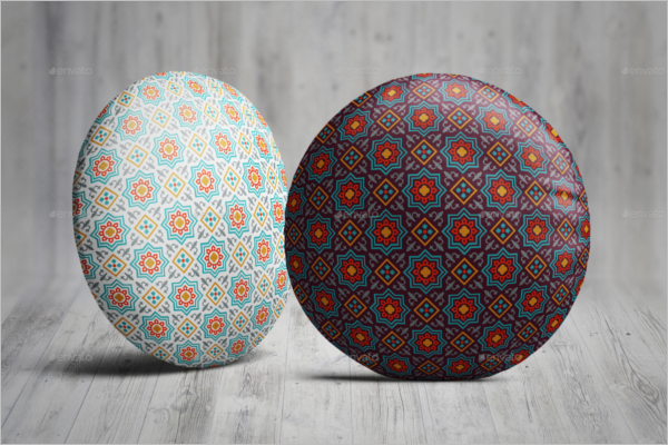 Colorful Pillow Mockup Template