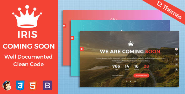 Coming Soon HTML5 & CSS3 Template