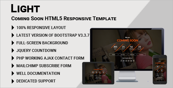 Coming Soon HTML5 Template