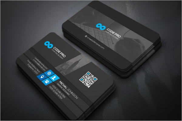 Company Business Card Mockup Template