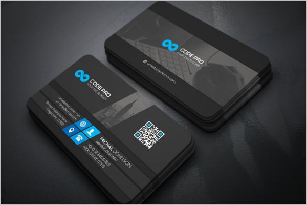 Company Business Card Mockup Template