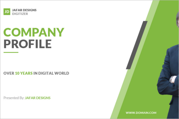 Company Profile PowerPoint Template  Format Of Company Profile