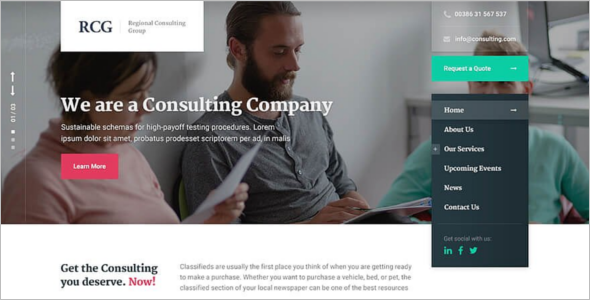 ConsultPress Business WordPress Theme